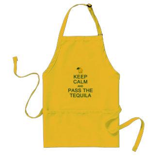 平静を保って下さい及びテキーラのエプロンを渡して下さい-スタイルを選んで下さい スタンダードエプロン