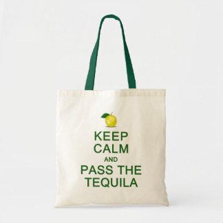平静を保って下さい及びテキーラのバッグを渡して下さい-スタイルを選んで下さい トートバッグ