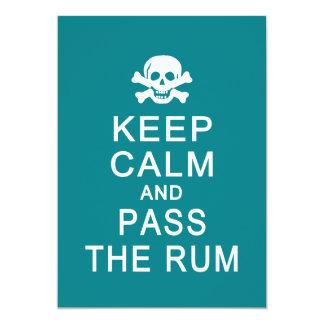 平静を保って下さい及びラム酒カードを渡して下さい、カスタマイズ カード