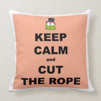 平静を保って下さい及びロープを切って下さい クッション
