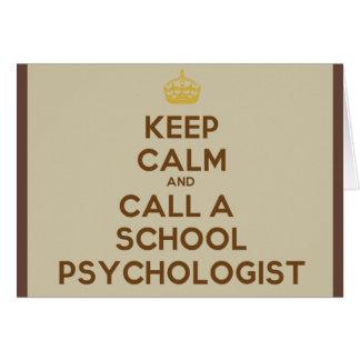 平静を保って下さい及び学校の心理学者をメッセージカードと電話して下さい カード