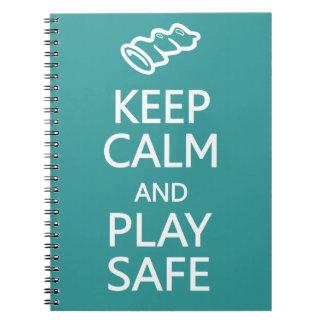 平静を保って下さい及び安全でカスタムな色のノートを遊んで下さい ノートブック