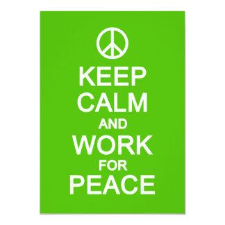 平静を保って下さい及び平和のための仕事は、カスタマイズ カード