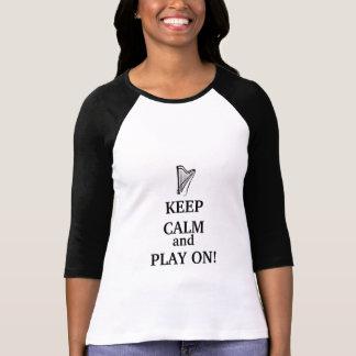 平静を保って下さい及びTシャツで遊んで下さい Tシャツ