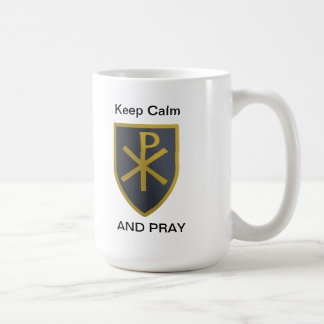 平静を保って下さい コーヒーマグカップ