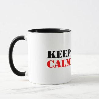 平静を保って下さい マグカップ