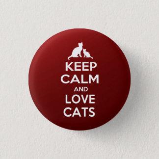 平静を愛猫保って下さい 3.2CM 丸型バッジ