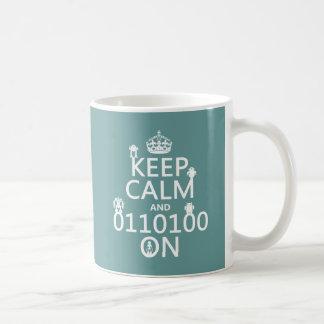 平静を(バイナリ)の保てば(ロボット) (どの色でも) コーヒーマグカップ