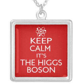 平静をHiggsのボゾン保って下さい シルバープレートネックレス