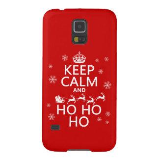 平静をHo Ho Ho -クリスマスかサンタ保てば Galaxy S5 ケース