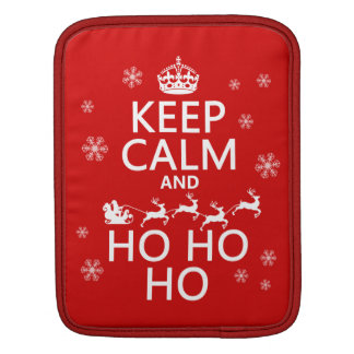 平静をHo Ho Ho -クリスマスかサンタ保てば iPadスリーブ