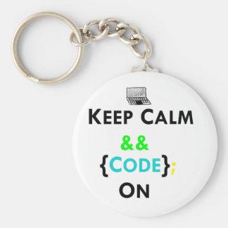 平静及びコードを保って下さい キーホルダー