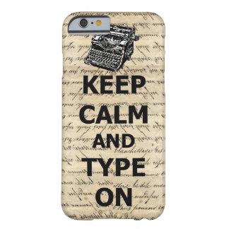 平静及びタイプを保って下さい BARELY THERE iPhone 6 ケース
