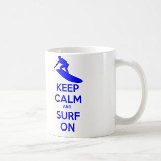 平静及び波を保って下さい コーヒーマグカップ