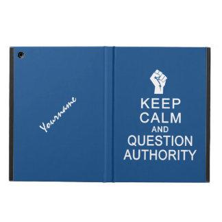 平静及び質問権限のカスタムのケースを保って下さい iPad AIRケース