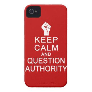 平静及び質問権限のブラックベリーはっきりしたなcasを保存して下さい Case-Mate iPhone 4 ケース
