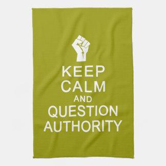 平静及び質問権限手タオルを保って下さい キッチンタオル