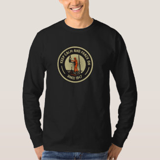 平静及びFrackを保って下さい。 1947年以来。  (黒) Tシャツ