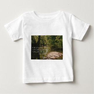 """""""平静目""""ののイメージのジョンの3:16 ベビーTシャツ"""