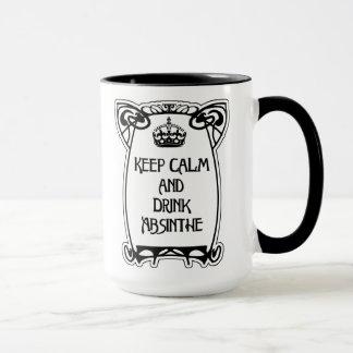 平静、アールヌーボーのスタイルのマグを保って下さい マグカップ