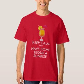 平静-テキーラの日の出--を保って下さい Tシャツ