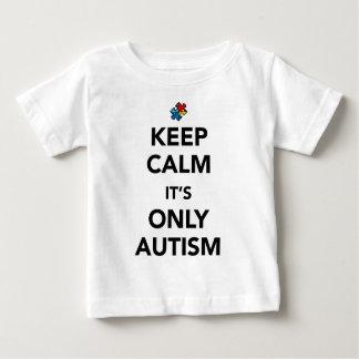 平静-自閉症の認識度--を保って下さい ベビーTシャツ