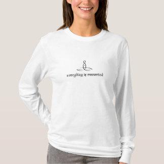 平静-黒いSanskritスタイル Tシャツ