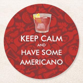 平静- Americano --を保って下さい ラウンドペーパーコースター