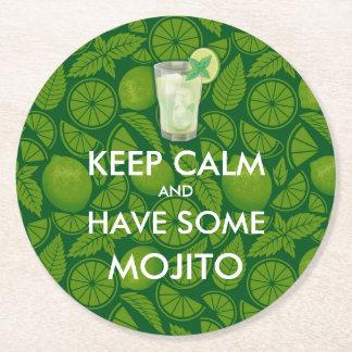 平静- Mojito --を保って下さい ラウンドペーパーコースター