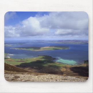 平面図: burraの音、graemsay及びオークニー諸島の本土 マウスパッド