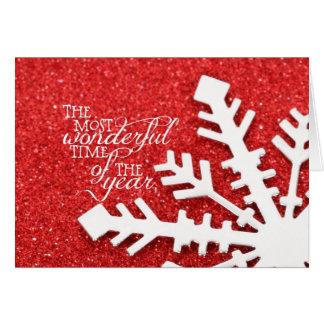 年のクリスマスのほとんどのすばらしい時間 カード