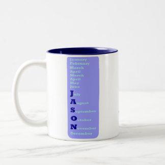 年の人-ジェイソン ツートーンマグカップ