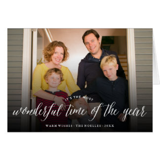 年の休日の写真カードのほとんどのすばらしい時間 カード