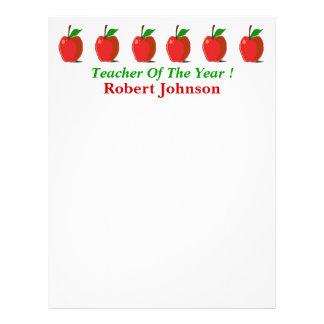 年の先生… りんごの文房具 レターヘッド