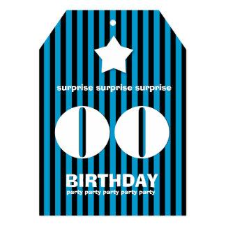 年の驚きの誕生日の星のチケットの形 カード