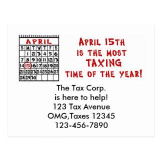 年のTmeに最も課税する4月15日! ポストカード