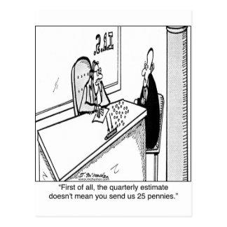 年四回税は25¢を意味しません ポストカード