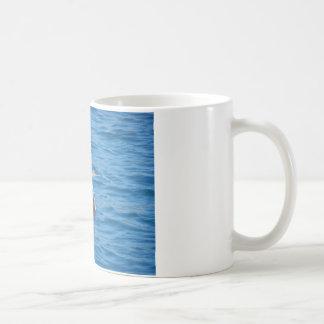 年少の毛羽織りの魚釣り コーヒーマグカップ