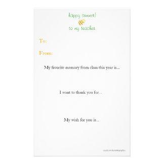 年末の先生はノート感謝していしています 便箋