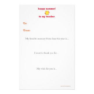 年末の先生はノート-日光感謝していしています 便箋