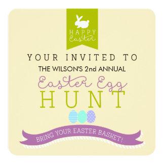 年次イースターエッグの狩りの招待状 カード