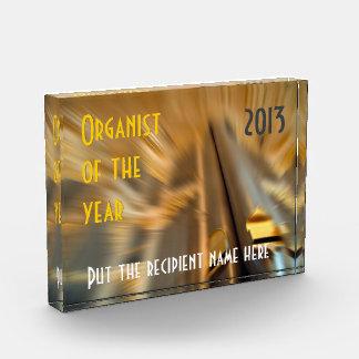 年賞のカスタマイズ可能なオルガン奏者 表彰盾