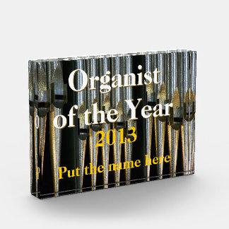 年賞の銀色のオルガン奏者 表彰盾