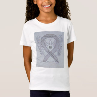 年配の乱用の銀の認識度のリボンの天使のワイシャツ Tシャツ