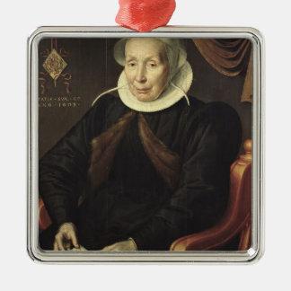 年配の女性のポートレート、1603年 メタルオーナメント