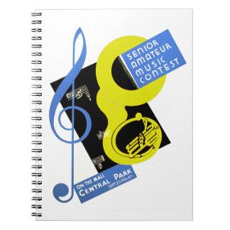 年長のアマチュア音楽コンテスト ノートブック