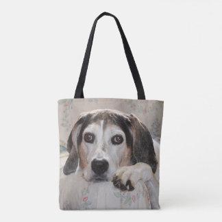 年長のTreeingの歩行者のCoonhound トートバッグ