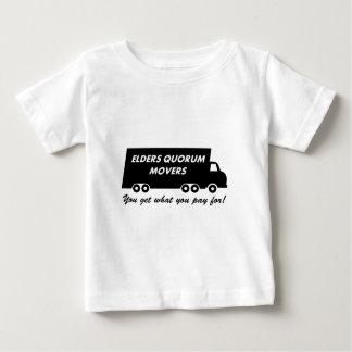 年長者の定足数の引越し業者: 3の支払うもの得ます ベビーTシャツ