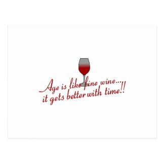 年齢の上質ワイン ポストカード