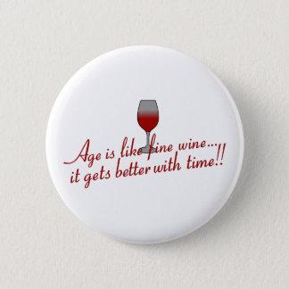 年齢の上質ワイン 5.7CM 丸型バッジ